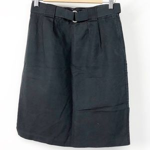 Boden charcoal belted pencil skirt